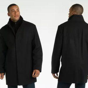 Perry Ellis Portfolio Wool Button-Front Car Coat